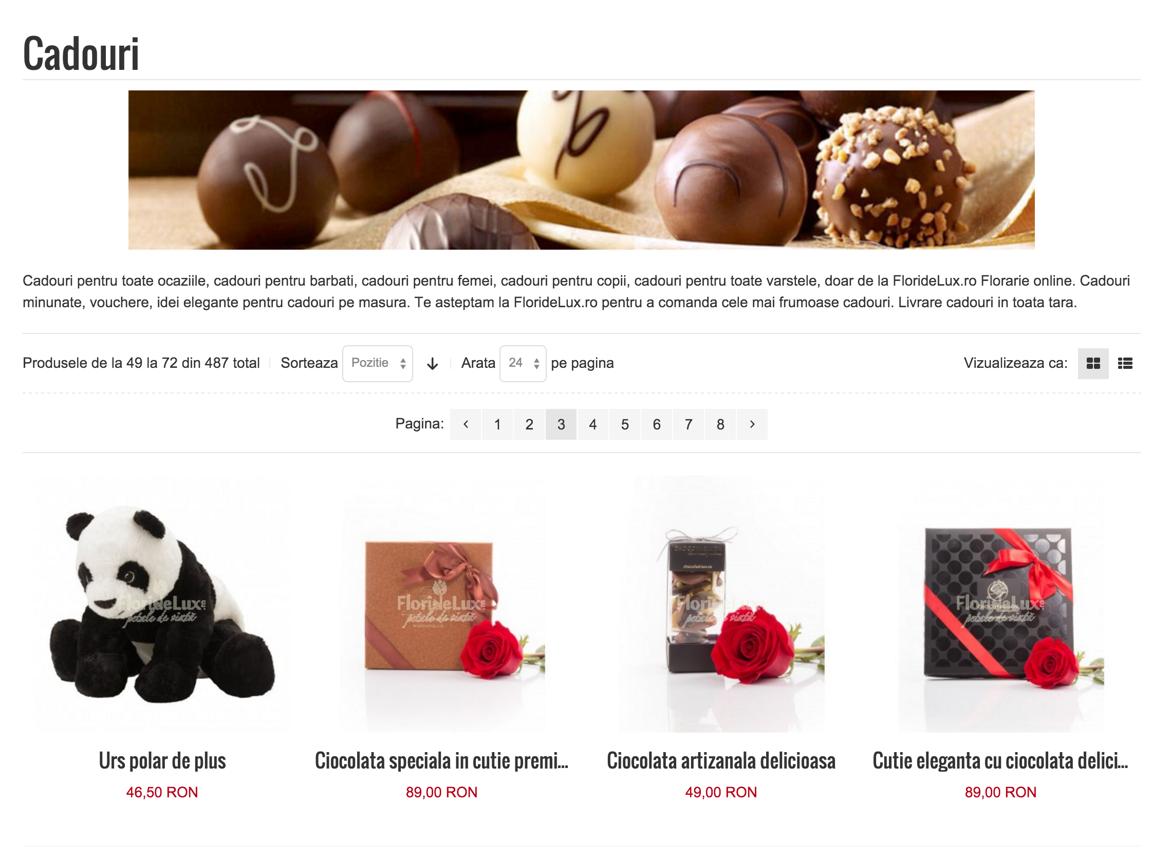 Ciocolata si dulciuri, cadouri si flori