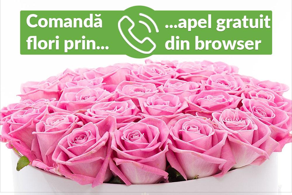 Comanda flori prin apel telefonic gratuit din BRowser