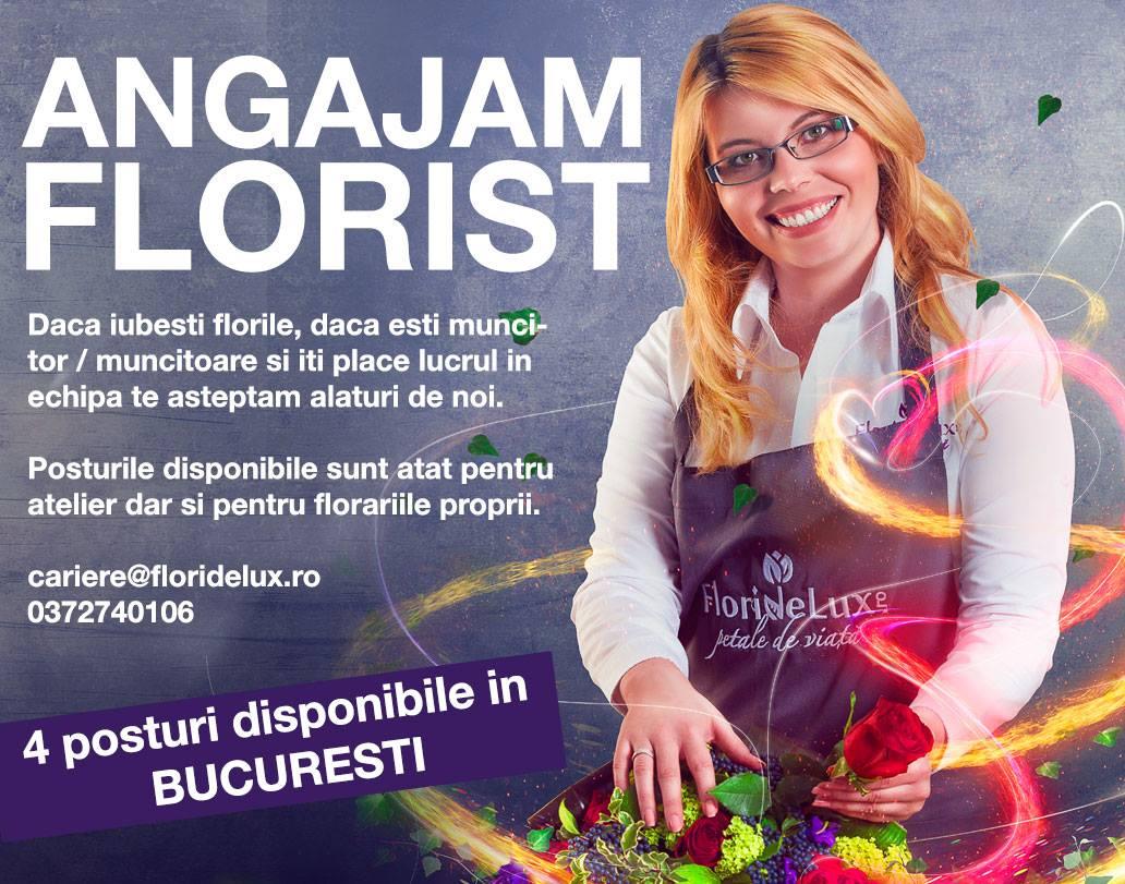 Angajam florist in Bucuresti