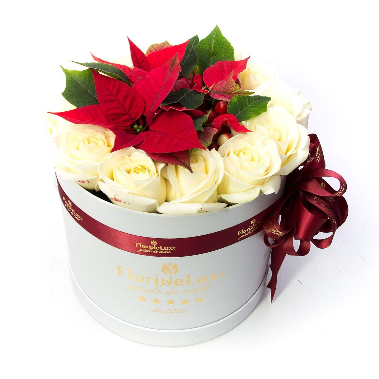 Craciunite flori cu mesaje, craciunite in cutii