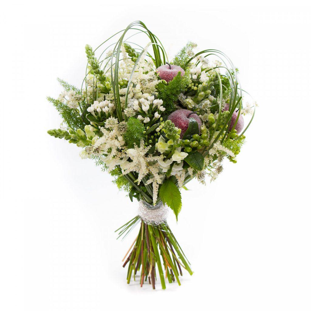 Buchet glazurat de iarna, flori minunate pentru partenera ta, femeia Sagetator.