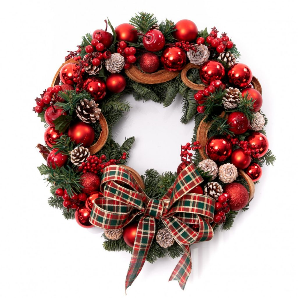 Coroniță de Crăciun cu mere și globuri, doar 289,99 RON!