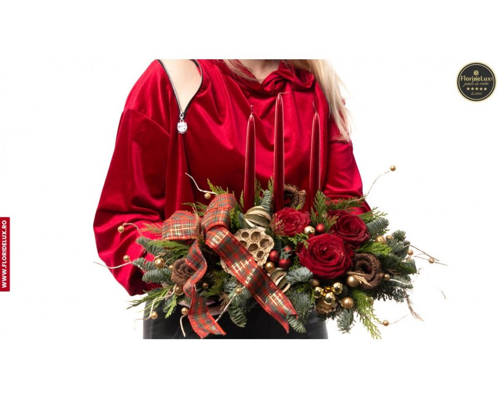 Tu esti Mos Craciun: aranjament festiv si bogat, doar 239,99 RON!