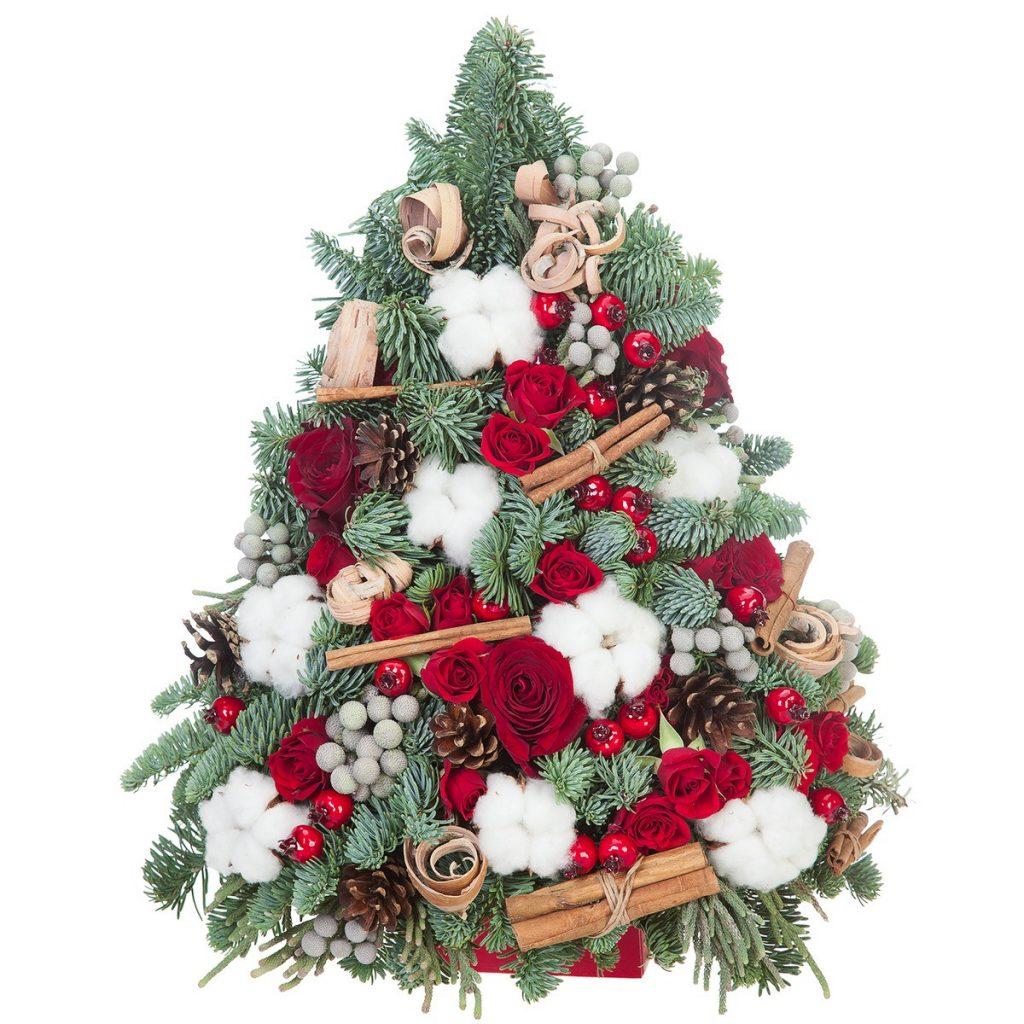 Cadouri de Crăciun 2020 - top 10 idei de cadouri Crăciun, Brad de Crăciun cu flori, doar 509,99 RON!