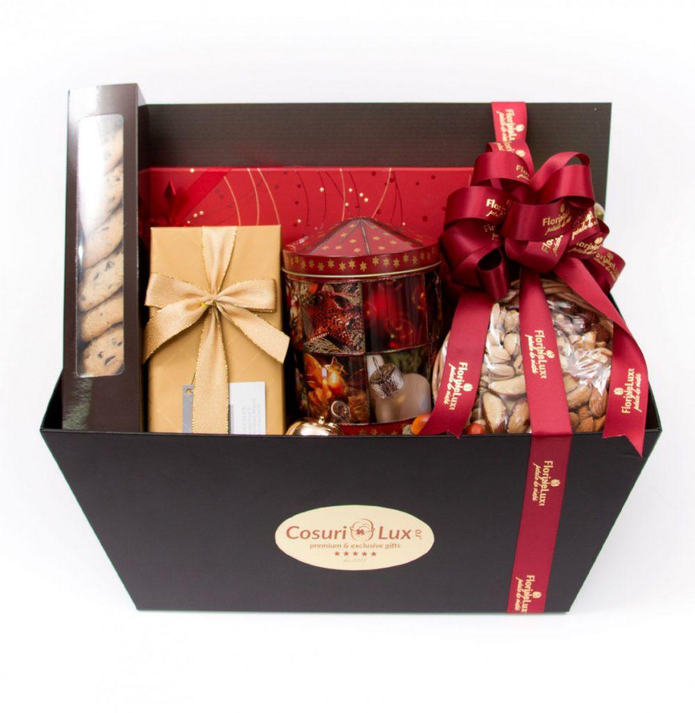 Coș cadou Red Christmas, doar 735,99 RON!