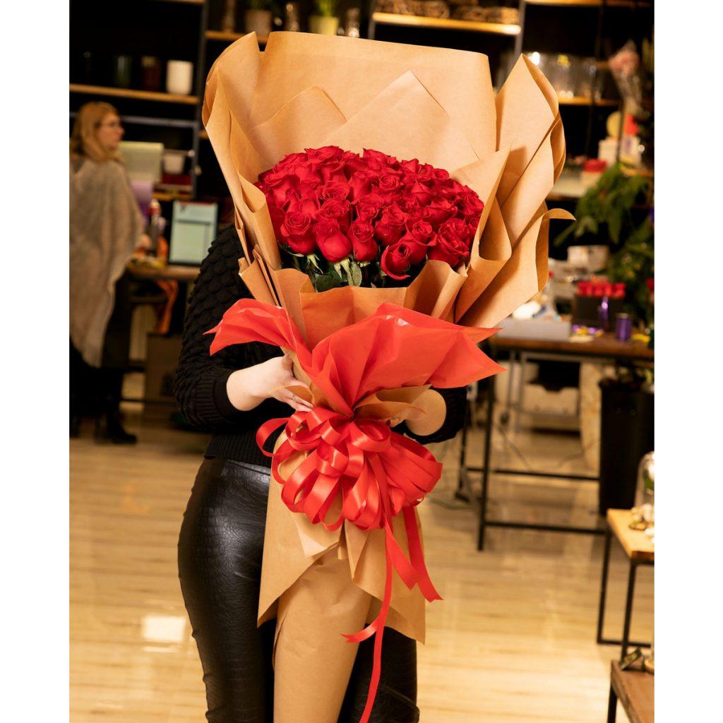 Flori Ziua Îndrăgostiților - oferte 2021 Buchet floral de 1.5 metri