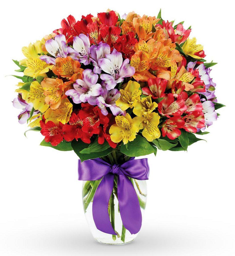 Flori pentru zodii, Buchet alstroemeria colorata
