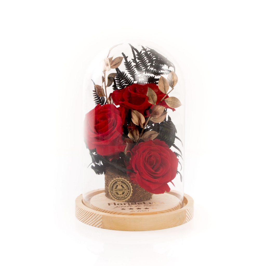 Trandafiri criogenați roșii, Trandafiri criogenati Golden Flame, doar 309,99 RON