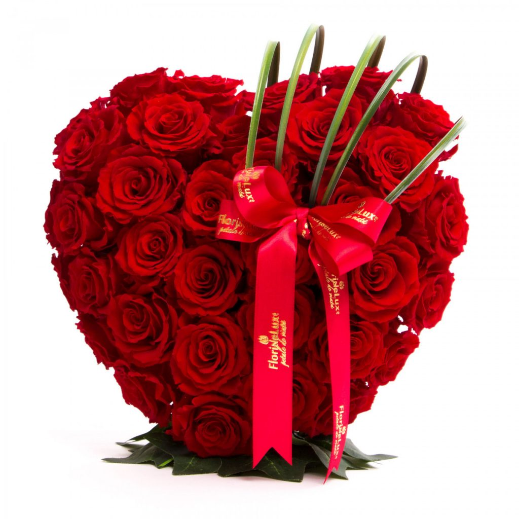 Inimă trandafiri conservați Dragoste eternă